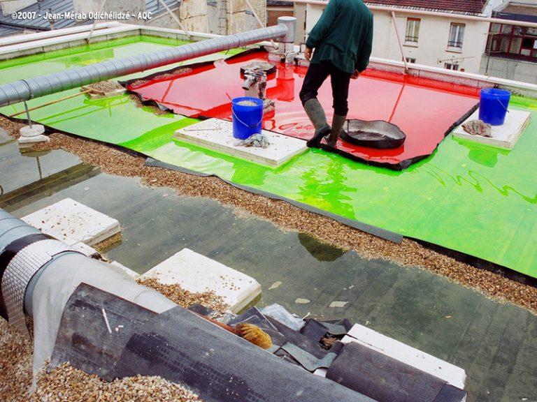 Recherche de fuite sur toit-terrasse