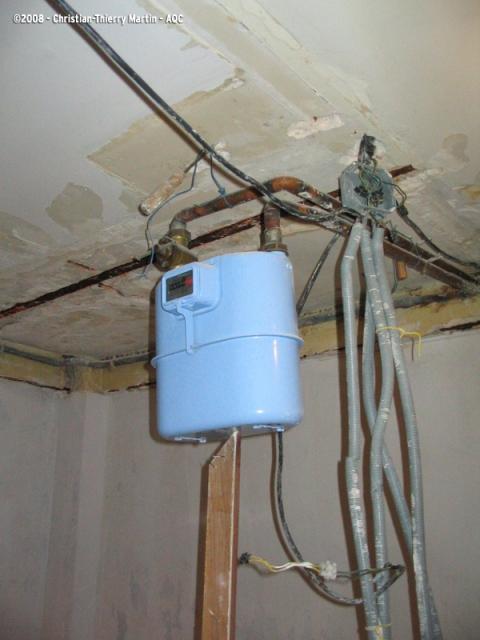 Installation gaz/électricité non conforme