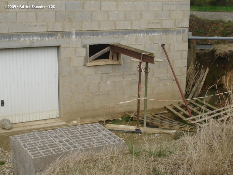 Fondations déstabilisées sur une maison