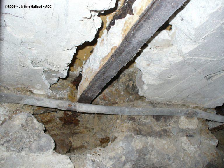 Effondrement de plafond d'une cave