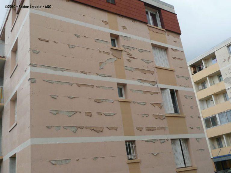 Maladie de peau d'un revêtement de façade