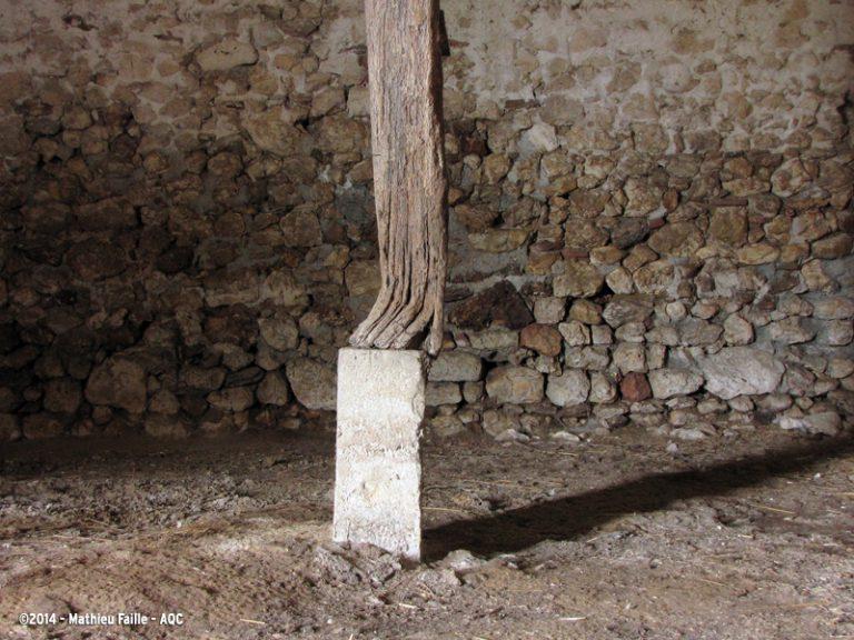 Déformation d'un poteau bois