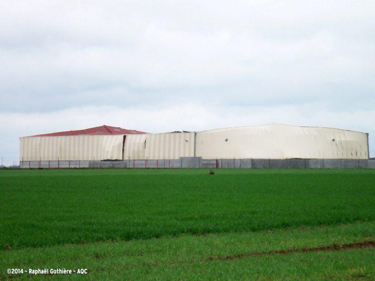 Affaissement d'un hangar