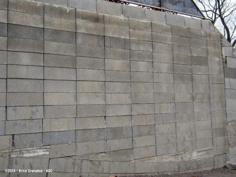 Mur de soutènement sans décalage des joints verticaux