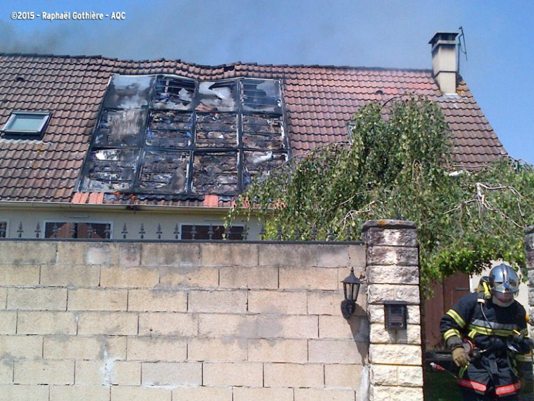 Incendie photovoltaïque en toiture
