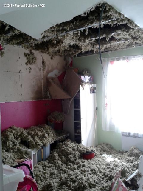 Chute d'un plafond