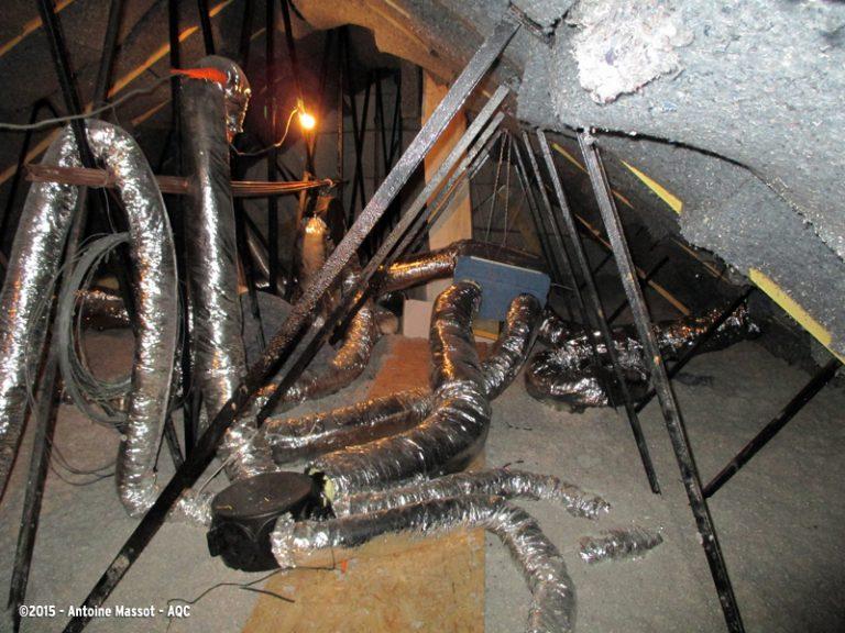 Défauts d'exécution sur un réseau de ventilation