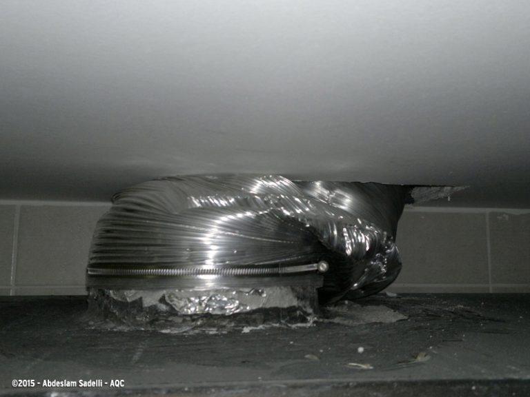 Écrasement d'une gaine de ventilation