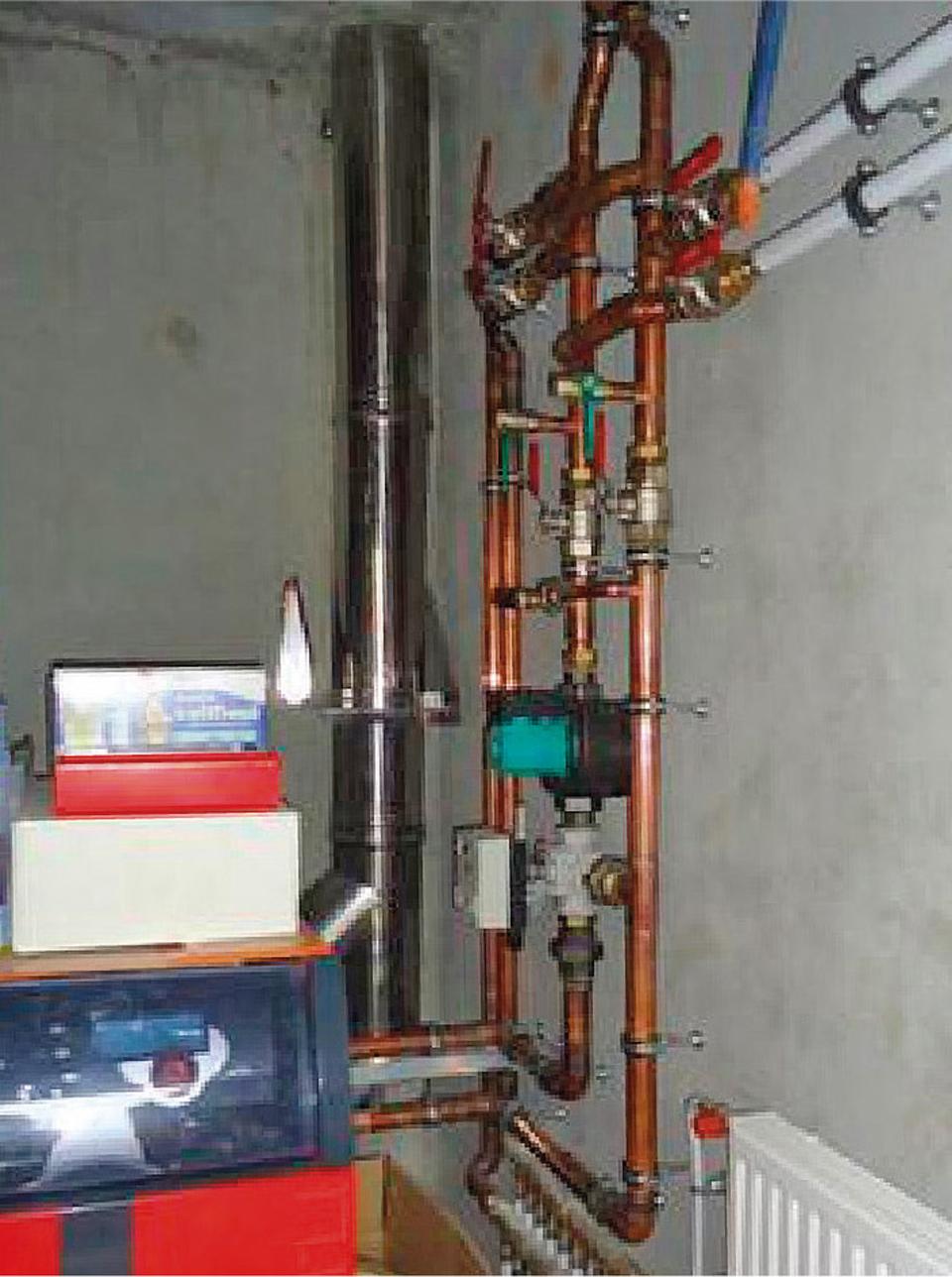 Réseau de distribution de chauffage sans isolation thermique