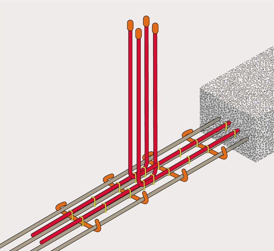Illustration d'équerres de liaisonnement positionnées correctement