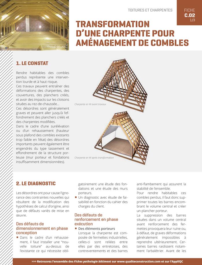 Transformation D Une Charpente Pour Amenagement De Combles Agence Qualite Constructionagence Qualite Construction