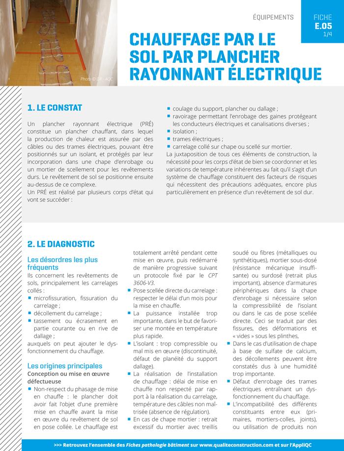 Chauffage Par Le Sol Par Plancher Rayonnant Electrique Agence