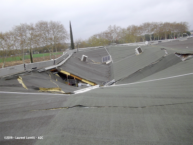 Effondrement d'une toiture terrasse