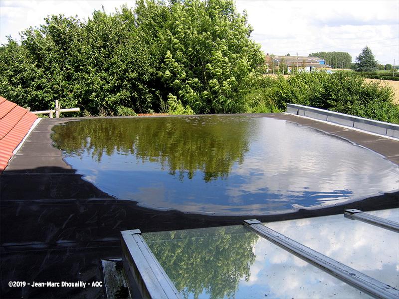 Déformation d'une toiture terrasse