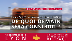 Les « 5 à 7 de l'éco-construction® »