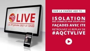 #AQCTVLIVE : isolation des combles par soufflage et façades avec ITE