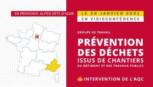 Visioconférence sur la prévention de déchets issus de chantiers du BTP