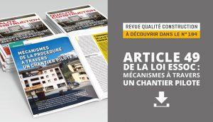 Article 49 de la loi Essoc : mécanismes à travers un chantier pilote