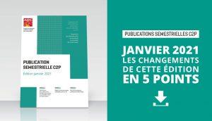 Publication semestrielle C2P : les changements de l'Édition janvier 2021