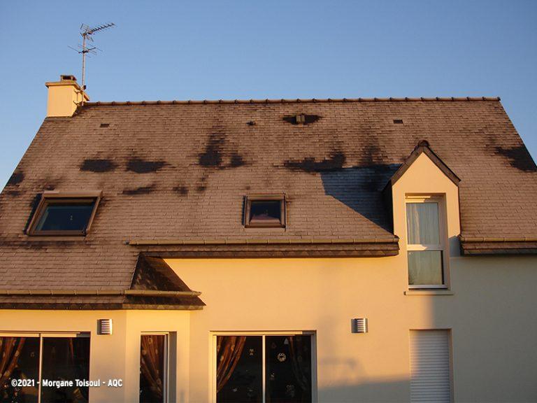 Ponts thermiques sur un toit