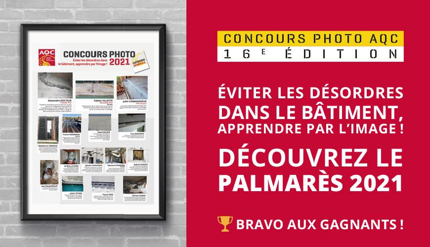 Illustrer les désordres par l'image : le Palmarès du Concours Photo AQC 2021